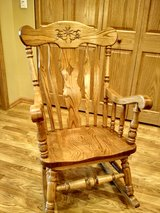 Oak Rocking Chair in Cary in Algonquin, Illinois