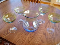 Glass Margarita Pitcher and 4 Glasses in Cary, IL in Algonquin, Illinois