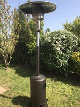 Outdoor heater with a propane tank in Baumholder, GE