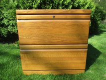 Wood 2Dr Filing Cabinet in Plainfield, Illinois