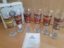 6 New Munich Paulaner Soccer Championships Beer Glasses 0.5L in Ramstein, Germany