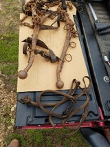 old horse harness,chains,and hames in Fort Leonard Wood, Missouri