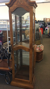 Curio Cabinet (Oak) (Solid Wood) in Fort Leonard Wood, Missouri
