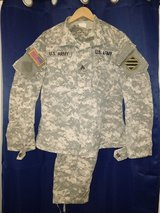 ACU top and bottom, Med Reg set in Fort Campbell, Kentucky