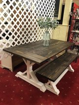 Table new and bench new in Leesville, Louisiana