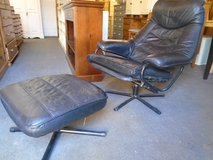 Retro recliner chair and stool in Lakenheath, UK