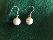 "Pearl (approx 3/8"")(faux)  & sterling silver wires. Fashion earrings- in Fort Leonard Wood, Missouri"