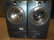SAMSUNG FRONT LOAD WASHER & DRYER W/PEDESTALS in Fort Bragg, North Carolina
