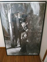 Chaplin Poster From *THE KID* with Frame in Okinawa, Japan