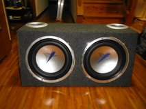 JVC 12 inch sbwoofers with enclosed box in Okinawa, Japan