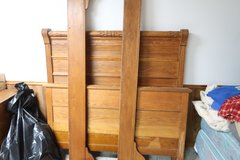 Antique full side bed (head and foot boards(needs slats) in DeKalb, Illinois