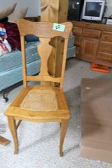 Caned maple antique chair in DeKalb, Illinois