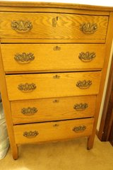 Tall antique oak dresser/ with mirror in excellent shape in DeKalb, Illinois