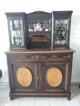 antique dining room set with 6 chairs in Ansbach, Germany