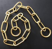 SOLID BRASS CHOKE CHAIN LONG LINK & TWISTED LINK in Lakenheath, UK