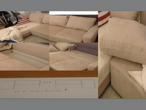 Quality Sectional Corner couch with bed in Stuttgart, GE