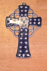 Polish Pottery Cross 15 in Stuttgart, GE