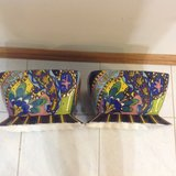 2-Colorful Beautiful Design Hand Painted Ceramic Pots in Naperville, Illinois
