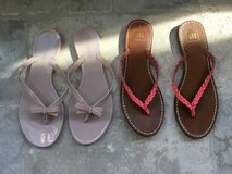 2 Pairs of Women's Dressy Flip Flop Sandals - Pink Size 9 in Aurora, Illinois
