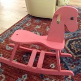 Solid wooden rocking horse in Beaufort, South Carolina