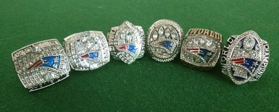 Patriots 6pc Championship Rings in Fort Campbell, Kentucky