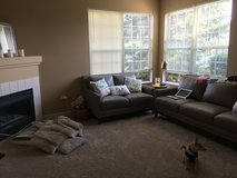 Leather couch and loveseat set in Joliet, Illinois