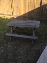 kids wooden picnic table in Kingwood, Texas