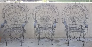 vintage 1970s wrought iron peacock chairs in Fort Leonard Wood, Missouri