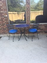 wrought iron bistro set in Kingwood, Texas