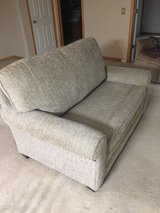 like new love seat couch with twin pullout in Sugar Grove, Illinois