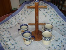 Polish Pottery Cups & Stand in Stuttgart, GE