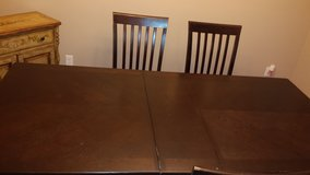 Formal Dining Room Table+ 5 chairs (wood) in Lackland AFB, Texas