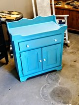 chalk painted cabinet in Cherry Point, North Carolina