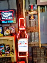 real neon glass tubes Budweiser bottle in Cherry Point, North Carolina
