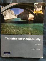 Thinking Mathematically by Robert F. Blitzer in Ramstein, Germany