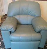 G PLAN SAGE GREEN LEATHER RECLINER CHAIR in Lakenheath, UK