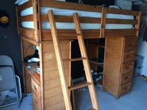 Twin bunk bed with desk and drawer and bunky boards in Sugar Grove, Illinois
