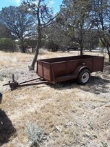 4×9 trailer needs bearing on left side  tires are new. in Ruidoso, New Mexico