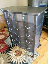 Pearl gray Serpentine front dresser in Cherry Point, North Carolina