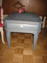 mid century gray side table in St. Charles, Illinois