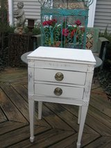 shabby chic vintage table with drawers in St. Charles, Illinois