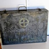antique coal miners first aid cabinet in Cherry Point, North Carolina