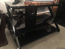 Glass Tv Stand with 3 shelves in Fort Leonard Wood, Missouri