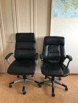 2 Leather Office Chairs in Okinawa, Japan