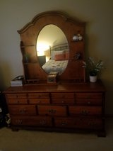 Quality, vintage wood dresser & mirror in New Lenox, Illinois