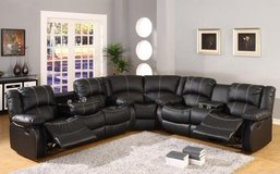 Kenia Sectional in Black or Dark Brown (stiching not white) including delivery in Shape, Belgium