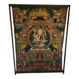"Thangka featuring Vajrasattva 66"" x 48"" in Morris, Illinois"