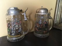 2 great collectible vintage beer mugs with bell in Ramstein, Germany