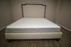 King-size Tufted bed (including mattress) in Kingwood, Texas
