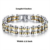 Male Bracelet Biker Bicycle Cuff Bracelets Motorcycle Link Chain Cool Bangles Stainless Steel Je... in Alamogordo, New Mexico